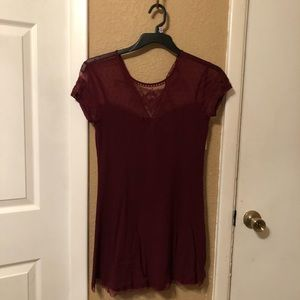 Fall burgundy dress